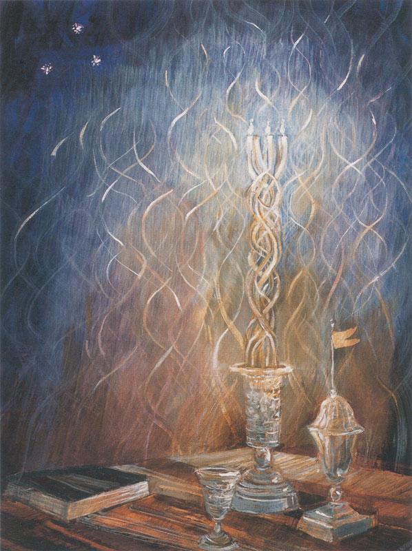 The Shabbat Queen dans immagini sacre havdalah-painting